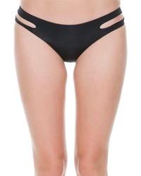 Bas de bikini découpé noir