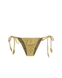 Bas de bikini doré Martha Medeiros
