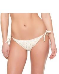 Bas de bikini en crochet blanc