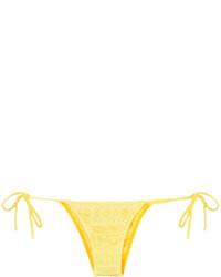 Bas de bikini en tricot jaune Cecilia Prado