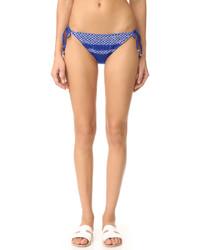 Bas de bikini géométrique bleu Shoshanna