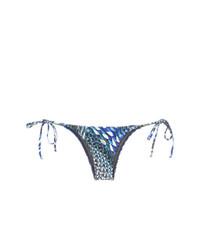 Bas de bikini imprimé bleu Lygia & Nanny