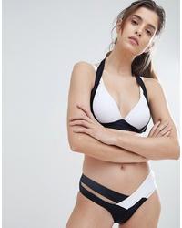 Bas de bikini noir et blanc Amy Lynn