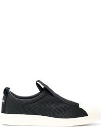 Baskets à enfiler à rayures horizontales noires adidas