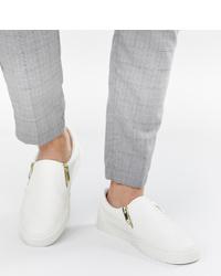 Baskets à enfiler blanches ASOS DESIGN