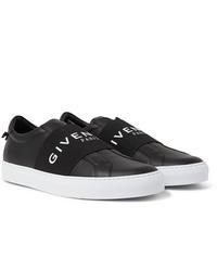 Baskets à enfiler en cuir noires Givenchy