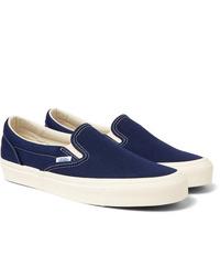 Baskets à enfiler en toile bleu marine Vans