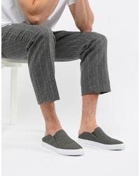 Baskets à enfiler en toile gris foncé ASOS DESIGN