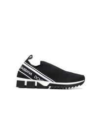 Baskets à enfiler imprimées noires et blanches Dolce & Gabbana