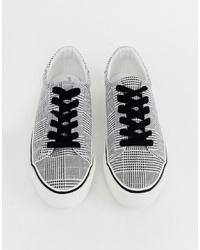 Baskets basses à carreaux noires et blanches ASOS DESIGN