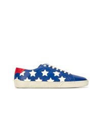 Baskets basses à étoiles bleues Saint Laurent