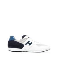 Baskets basses blanc et bleu marine Hogan