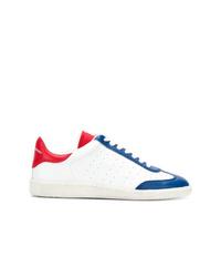 Baskets basses blanc et rouge et bleu marine Isabel Marant