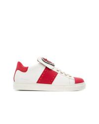 Baskets basses blanc et rouge Twin-Set