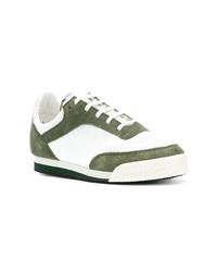 Baskets basses blanc et vert Comme Des Garcons SHIRT