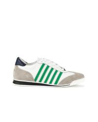 Baskets basses blanc et vert DSQUARED2