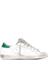 Baskets basses blanc et vert Golden Goose Deluxe Brand