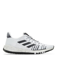 Baskets basses blanches et noires ADIDAS X MISSONI
