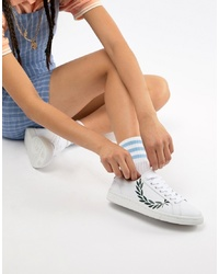 Baskets basses blanches et noires Fred Perry