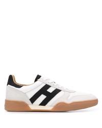 Baskets basses blanches et noires Hogan