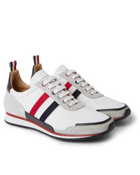 Baskets basses blanches Thom Browne