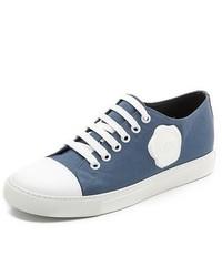 Baskets basses bleu marine et blanc