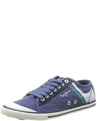 Baskets basses bleues Pepe Jeans