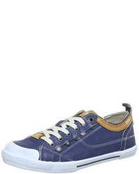 Baskets basses bleues Yellow Cab