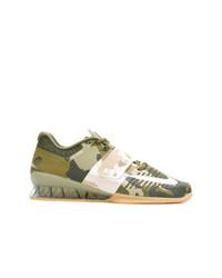 Baskets basses camouflage olive Nike