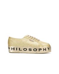 Baskets basses dorées Philosophy di Lorenzo Serafini