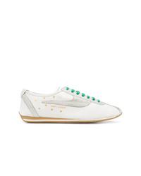 Baskets basses en cuir à étoiles blanches Saint Laurent