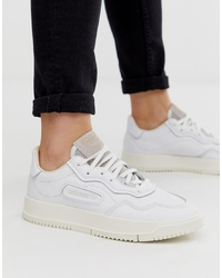 Baskets basses en cuir blanches adidas Originals