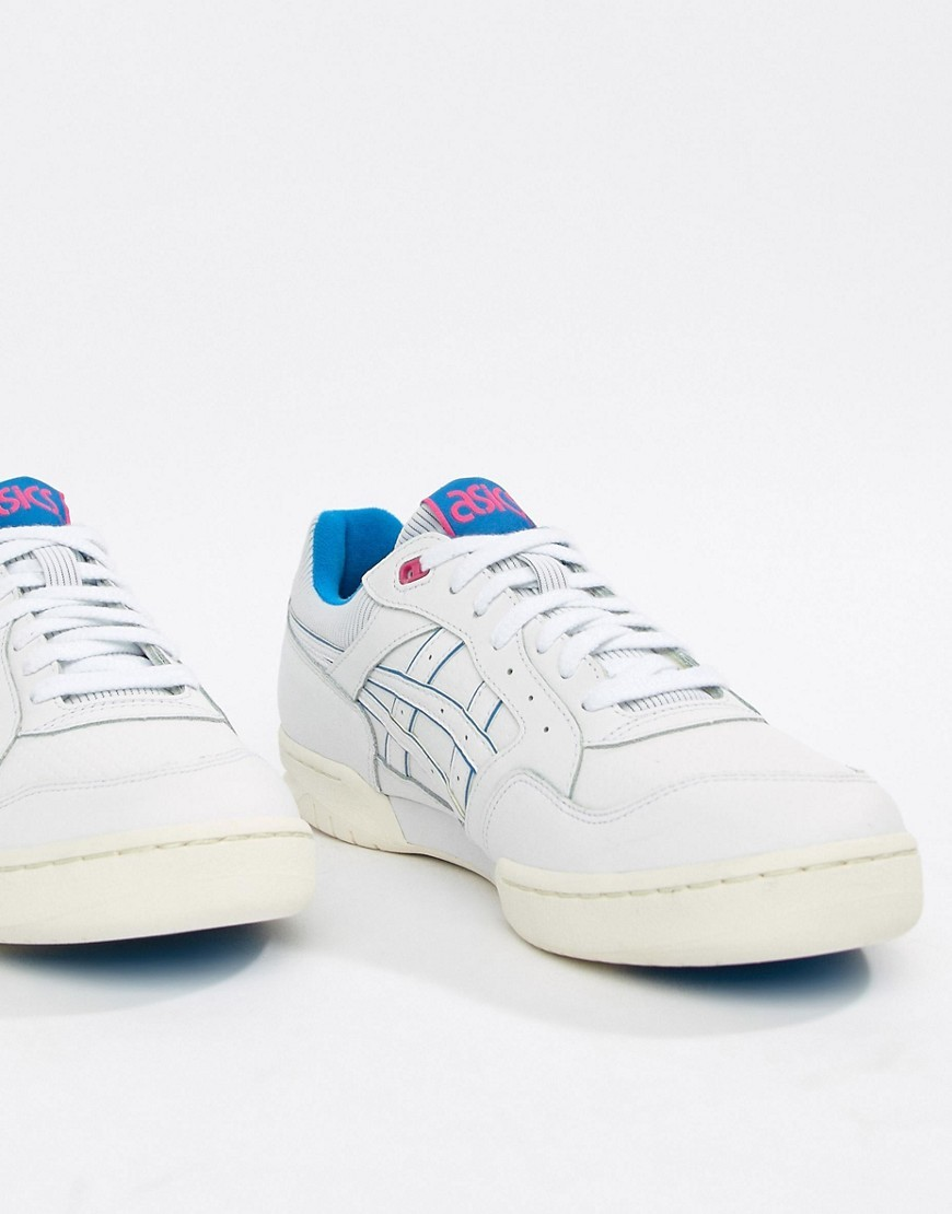 Baskets basses en cuir blanches Asics