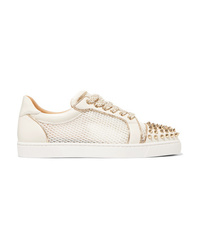 Baskets basses en cuir blanches Christian Louboutin