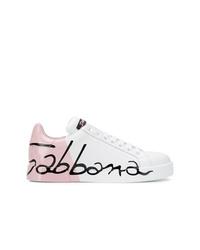Baskets basses en cuir blanches Dolce & Gabbana