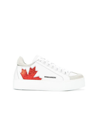 Baskets basses en cuir blanches Dsquared2