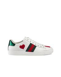Baskets basses en cuir blanches Gucci