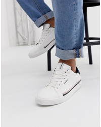 Baskets basses en cuir blanches Jack & Jones