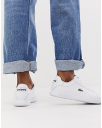 Baskets basses en cuir blanches Lacoste