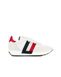 Baskets basses en cuir blanches Moncler