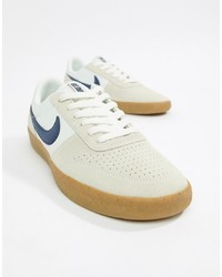 Baskets basses en cuir blanches Nike SB