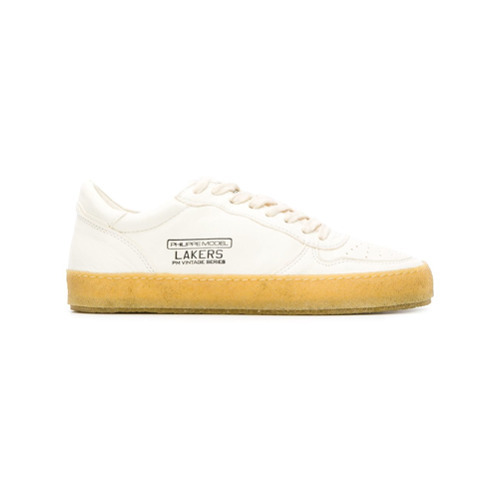 Baskets basses en cuir blanches Philippe Model