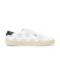 Baskets basses en cuir blanches Saint Laurent