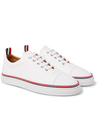 Baskets basses en cuir blanches Thom Browne