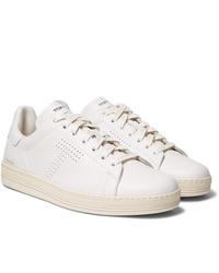 Baskets basses en cuir blanches Tom Ford
