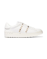 Baskets basses en cuir blanches Valentino