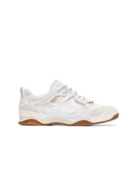 Baskets basses en cuir blanches Vans