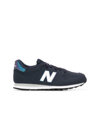 Baskets basses en cuir bleu marine New Balance