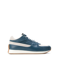 Baskets basses en cuir bleues Kris Van Assche