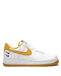 Baskets basses en cuir imprimées blanches Nike